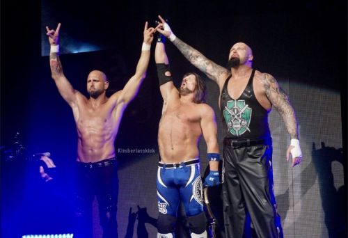 The Club main-evented the show in a huge six-man tag team match
