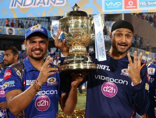 Karn with Harbhajan