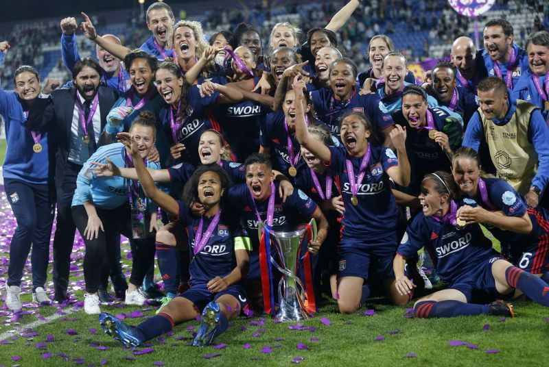 cd3f1c24101 Lyon beats Wolfsburg 4-1 to win Women s Champions League