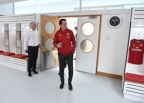 New Arsenal Head Coach Unai Emery at the Arsenal Training Ground
