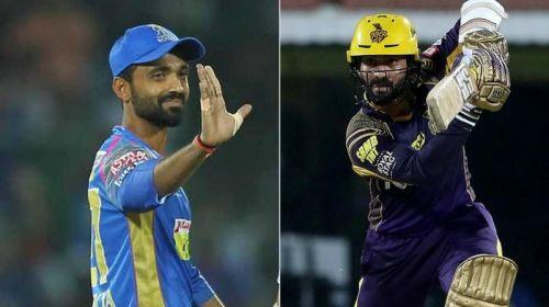 Rahane and Karthik lock horns to decide who'll face SRH at Kolkata