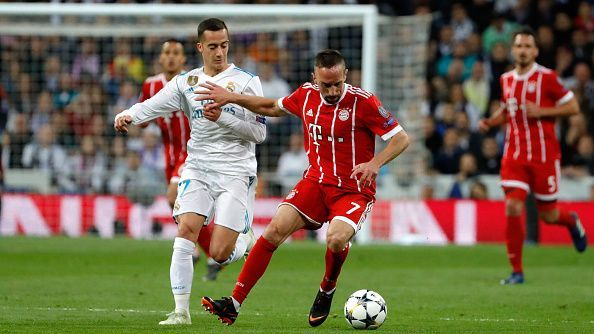 Lucas Vazquez was made to chase Franck Ribery throughout the night