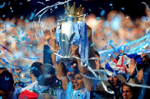 Sergio Aguero won the Premier League with Manchester City in his debut season