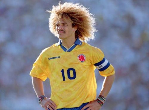 1994 World Cup Finals. Pasadena USA. 22nd June, 1994. USA 2 v Colombia 1. Colombia's captain Carlos Valderrama.