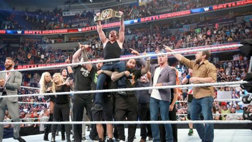 This celebration made more sense when Dean pinned Roman