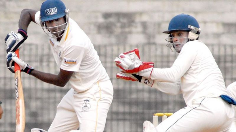 A file picture of R Prasanna in action for Tamil Nadu