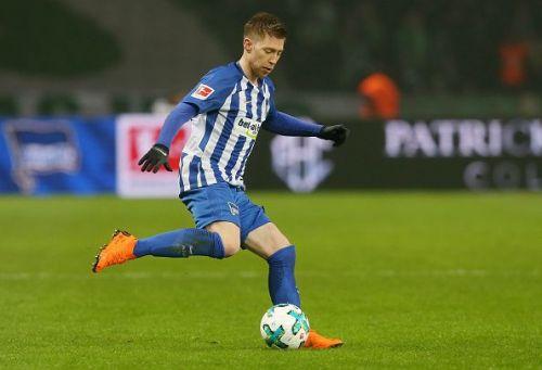 Mitchell Weiser in action for Hertha Berlin