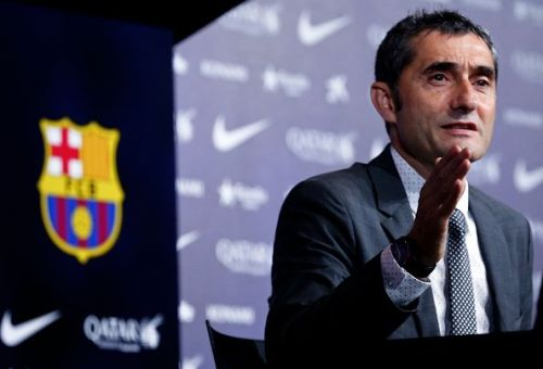 Presentation of Ernesto Valverde, new FC Barcelona's coach