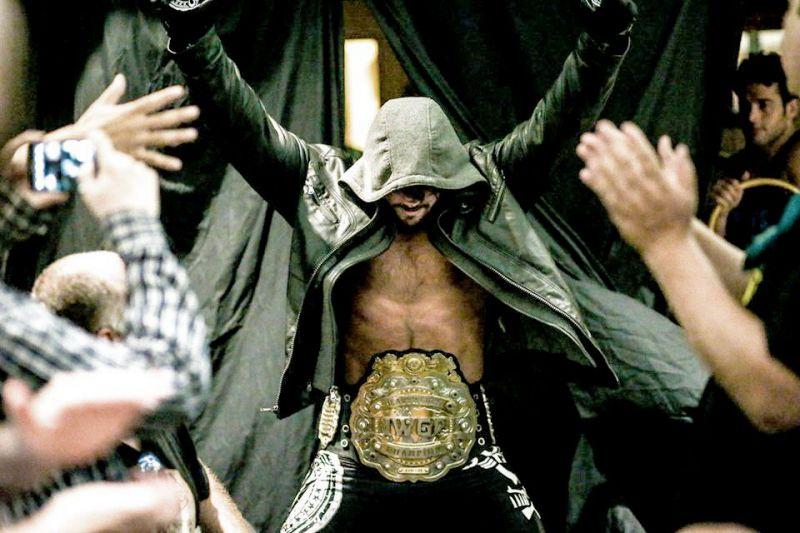 Styles as the IWGP Heavyweight Champion