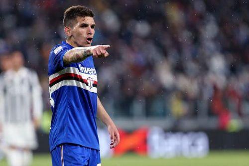 Lucas Torreira  of UC Sampdoria   during the Serie A...