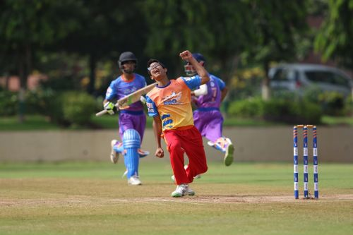 Don Bosco's baller celebrates after taking a wicket at Pro Star League