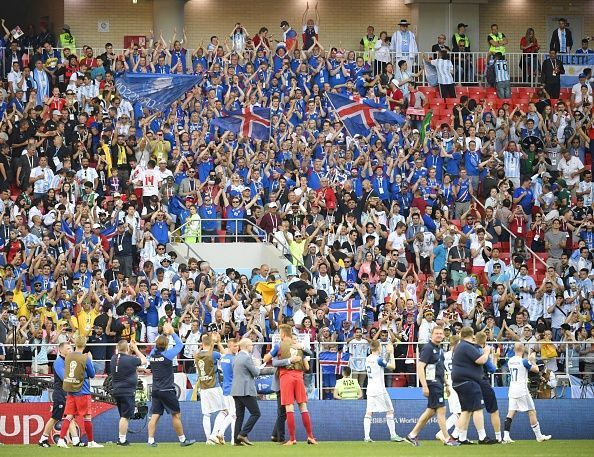Football: Argentina vs Iceland at World Cup