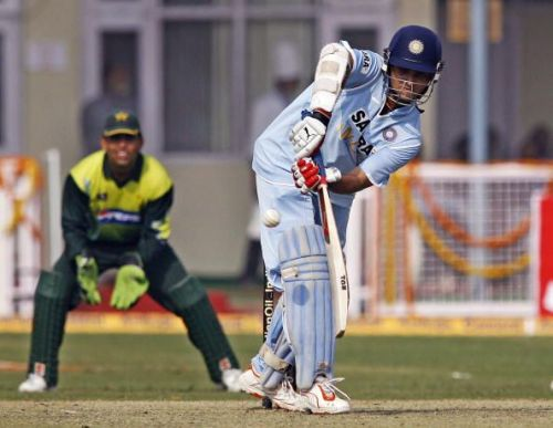 India cricketer Saurav Ganguly plays a s