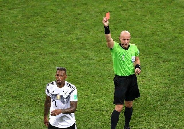 Boateng was sent off against Sweden