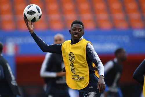Team France training for 2018 FIFA World Cup Group Stage match against Peru