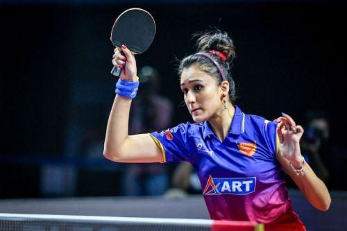 World No. 18 Samara battled a troubled ankle to subdue Manika Batra 2-1