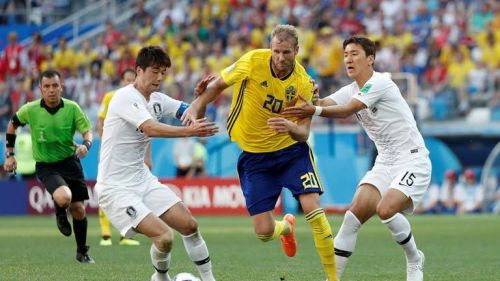 Sweden's offensive game developed cracks in Korea's armor