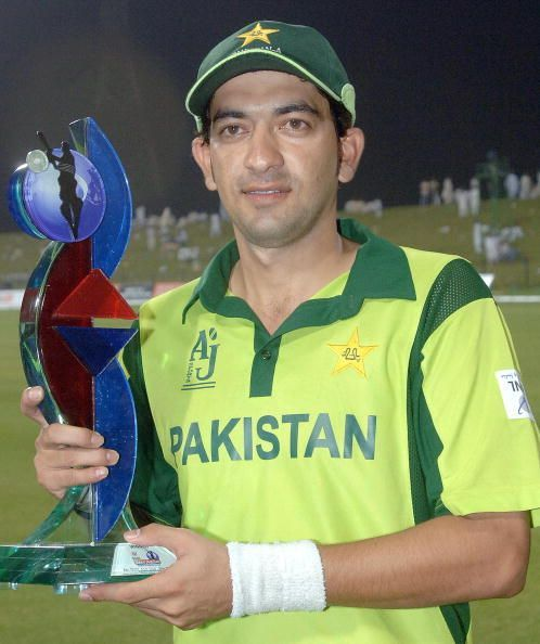 Pakistan-A team captain Hasan Raza displ