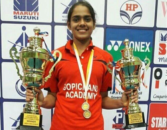 Panda represented India in the BWF World Junior Championships