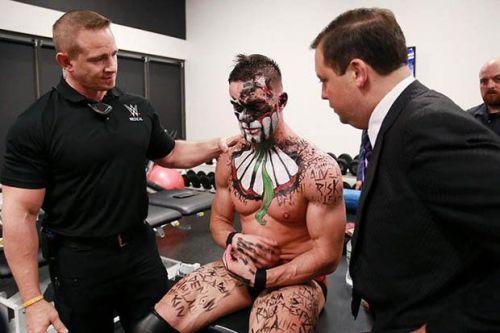 Image result for finn balor backstage injured