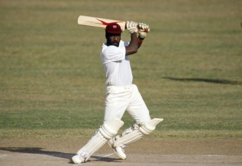 Sport. Cricket. pic: 24/2-1/3 1990. Ist Test Match in Kingston. England beat West Indies by 9 wickets. Viv Richards, West Indies. Viv Richards played in 121 Test matches for West Indies between 1974-1991 and was one of the best batsman of all time.