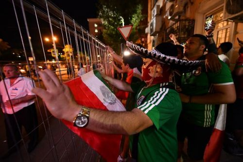 Mexican Fans Support Their Players - FIFA World Cup Russia 2018