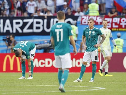 Football: Germany vs South Korea at World Cup