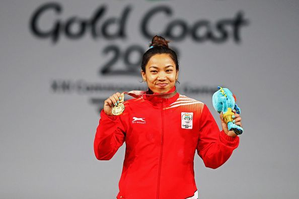 Mirabai Chanu won a gold medal for India at the 2018 Commonwealth Games in Weightlifting Women