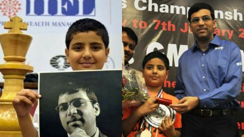 Viswanathan Anand is one of his idols, as he sure is for many budding chess players