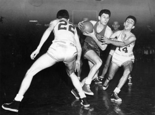 Ed Macauley, Bob Cousy And Max Zaslofsky