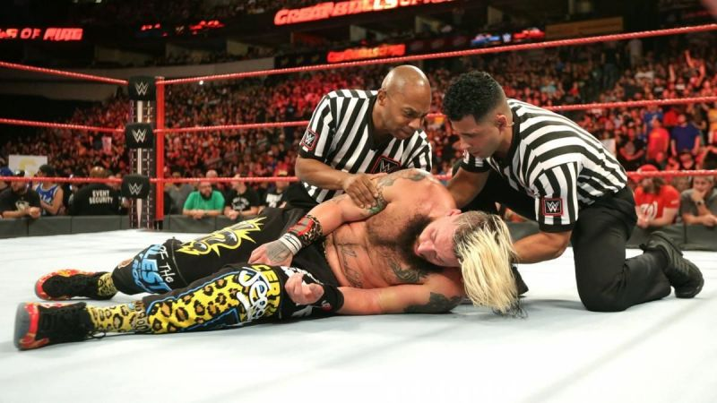 Enzo Amore was left lying in the ring after his match with Big Cass c06b03f8a