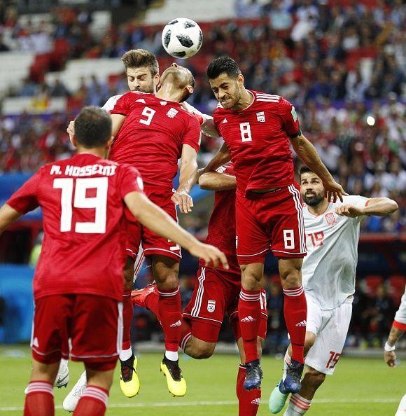 Football: Iran vs Spain at World Cup