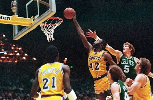 James Worthy Dunking Basketball