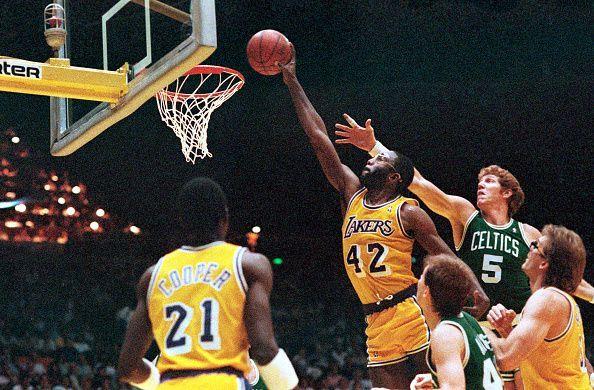 James Worthy Dunking Basketball