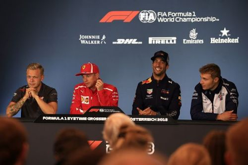 2018 Austrian Formula One Grand Prix Driver Arrivals and Press Conference Jun 28th