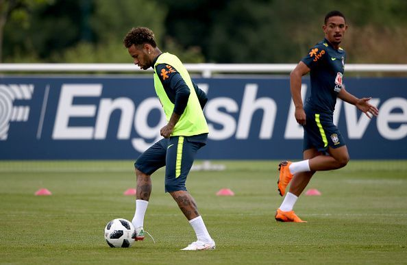 Brazil Training Session and Press Conference - Enfield Training Ground
