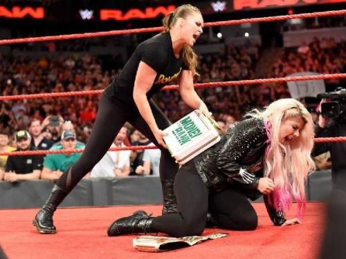 Image result for wwe ronda rousey hits alexa
