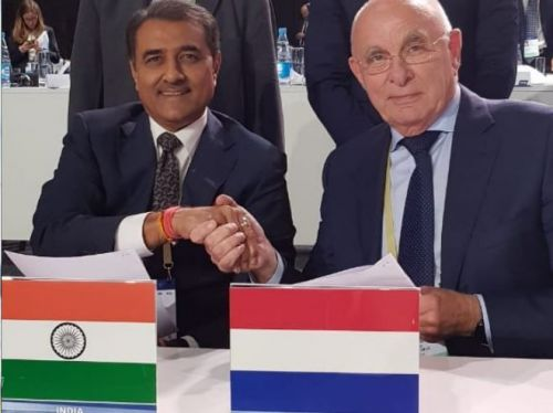 AIFF have signed an MoU withthe Dutch Football Federation for the uplifment of Indian football.