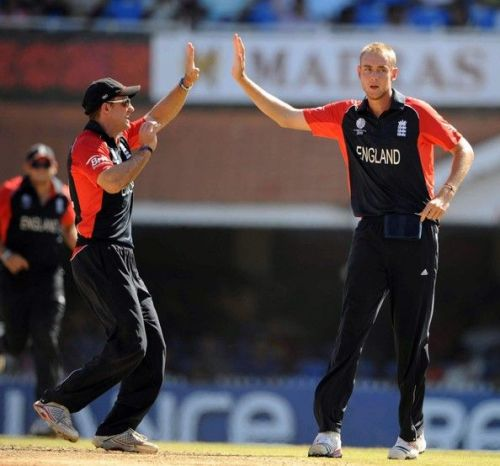 Image result for England vs South Africa, Chennai - 2011 World Cup Stuart Broad