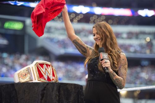 Lita unveils Raw Womens Championship at WrestleMania 32