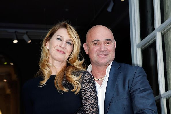 Steffi Graf and Andre Agassi at the gala dinner held at the Musee Rodin in Paris