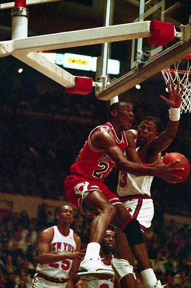 Michael Jordan Against Patrick Ewing