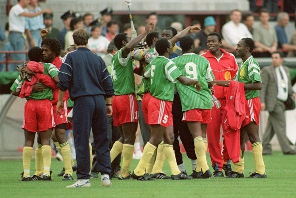 Image result for cameroon 1990 world cup
