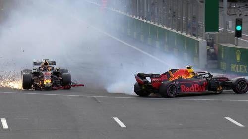 Max crash at Azerbaijan GP 2018