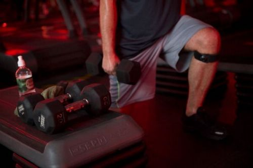 Dumbbell lunges are very effective in toning the quads