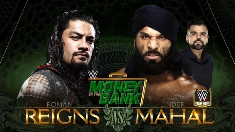 Roman Reigns vs. Jinder Mahal