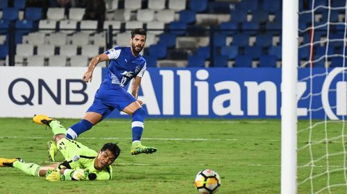 Daniel Segovia in action during the Indian Super League