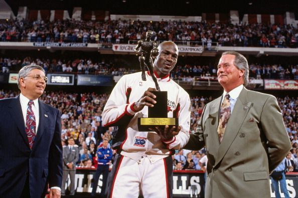 Michael Jordan was named the 1992 NBA Most Valuable Player 2017 NBA Awards Show