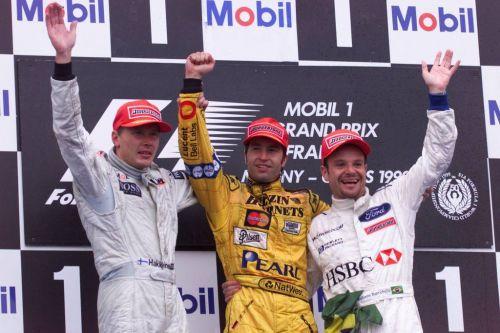 The 1999 French Grand Prix Podium