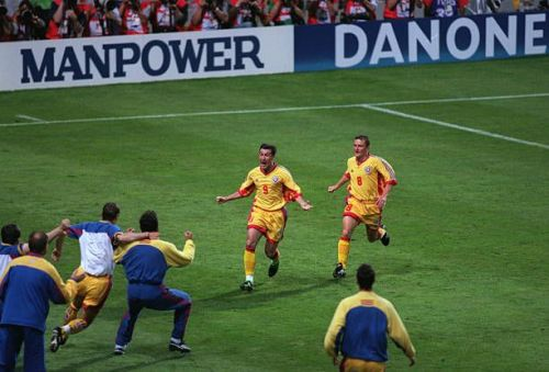 Romania would surprisingly beat England 2-1 in 1998